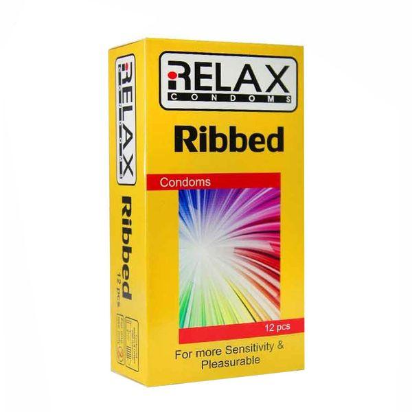 کاندوم ریلکس مدل RIBBED کد A10 بسته 12 عددی