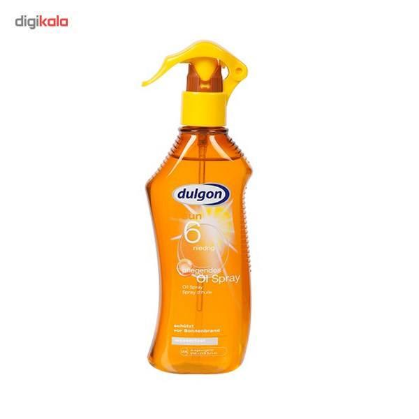 اسپری روغن برنز کننده دالگون مدل Sun Spf6 حجم 200 میلی لیتر  Dulgon Sun Oil Spray Spf6 200ml