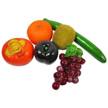 میوه تزئینی مدل real fruit کد 2000 مجموعه 6 عددی
