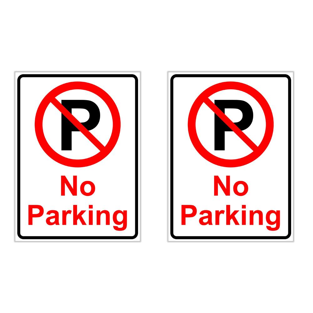 برچسب چاپ پارسیان طرح پارک ممنوع No Parking بسته 2 عددی