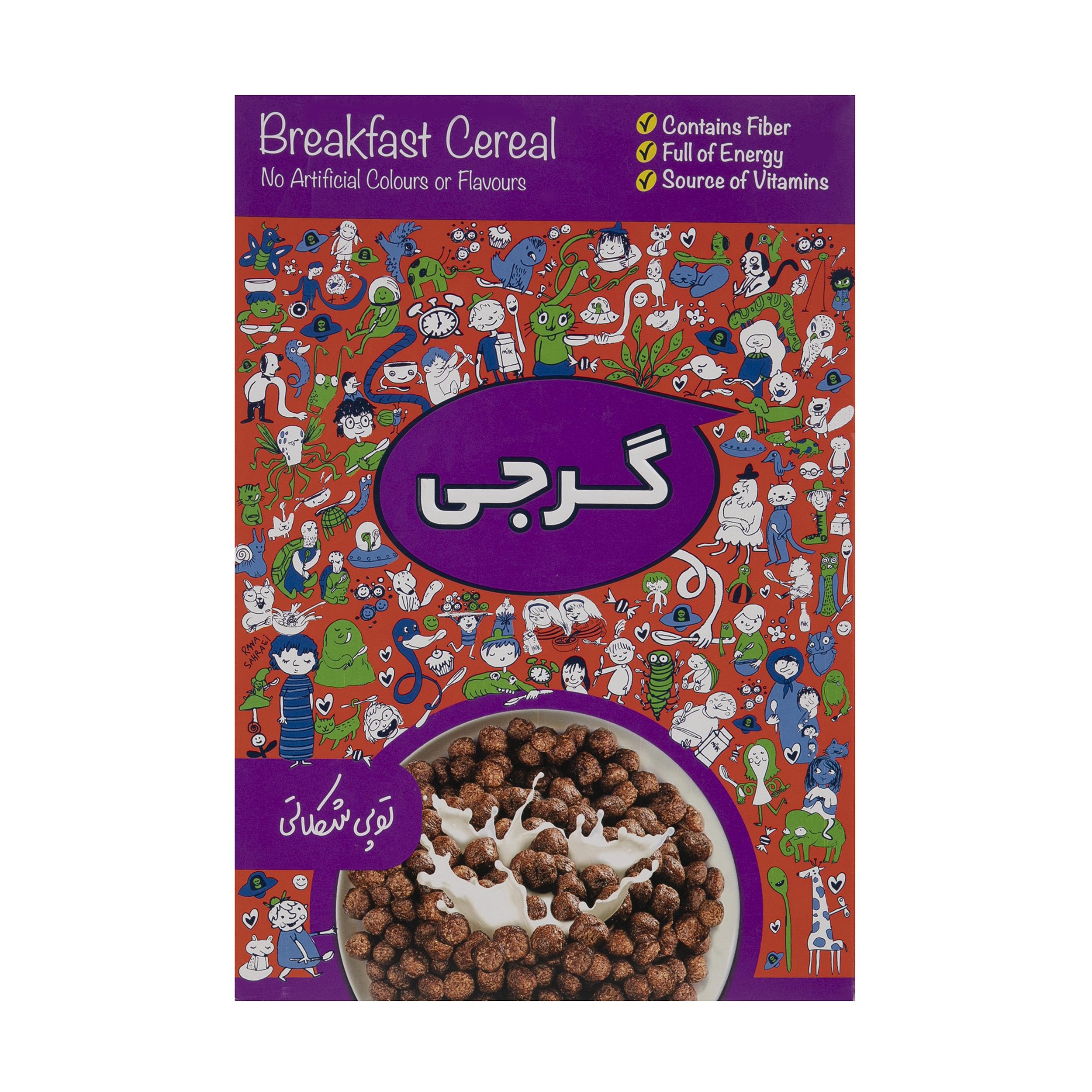 کورن فلکس توپی شکلاتی گرجی مقدار 300 گرم