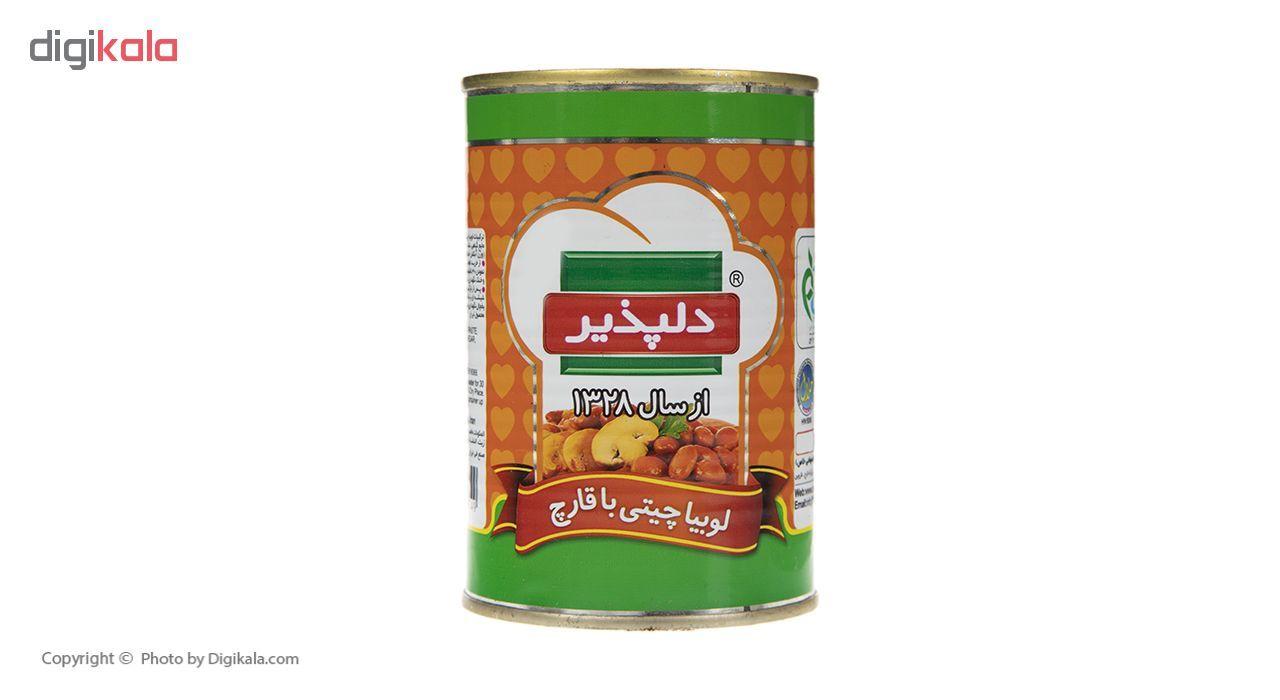 کنسرو لوبیا چیتی با قارچ دلپذیر - 420 گرم main 1 1