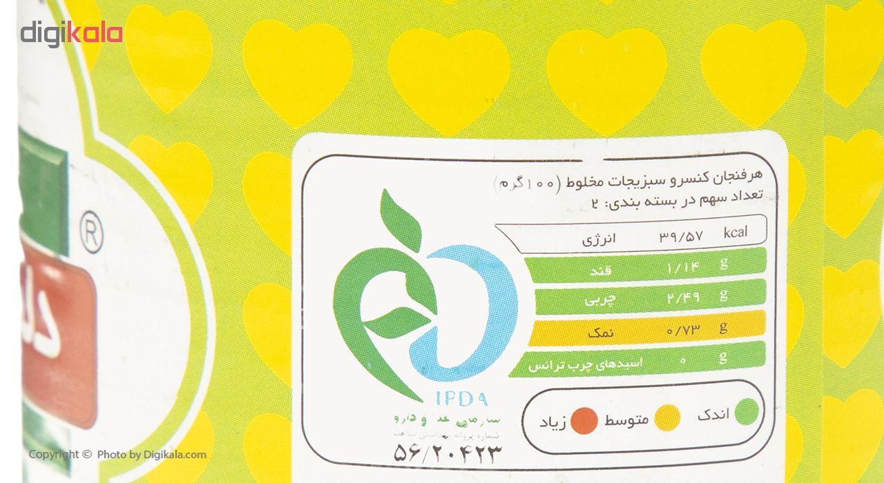 کنسرو سبزیجات مخلوط دلپذیر - 420 گرم main 1 3