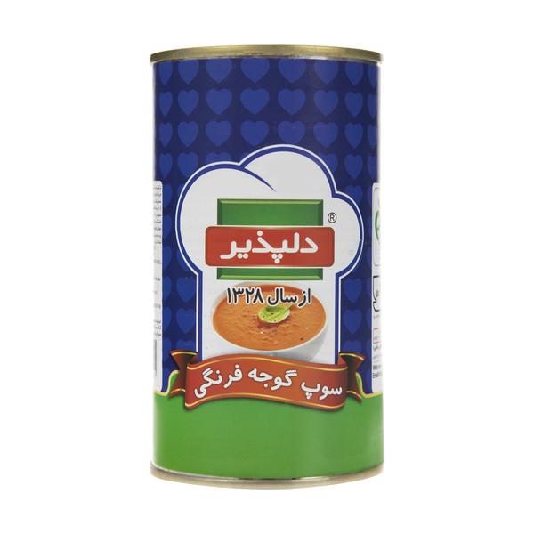 کنسرو سوپ گوجه فرنگی دلپذیر مقدار 500 گرم