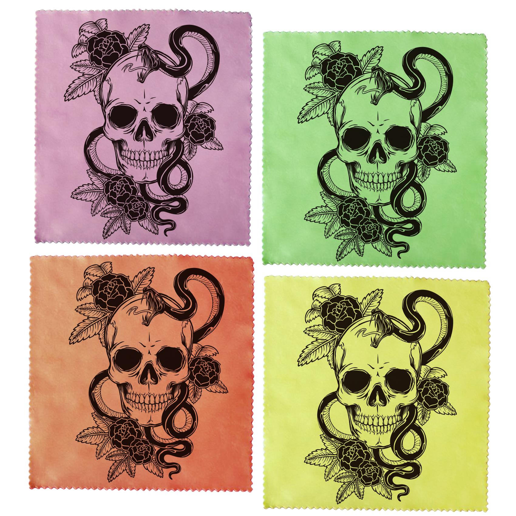 عکس دستمال عینک اکو مدل skulls مجموعه 4 عددی