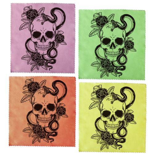 دستمال عینک اکو مدل skulls مجموعه 4 عددی