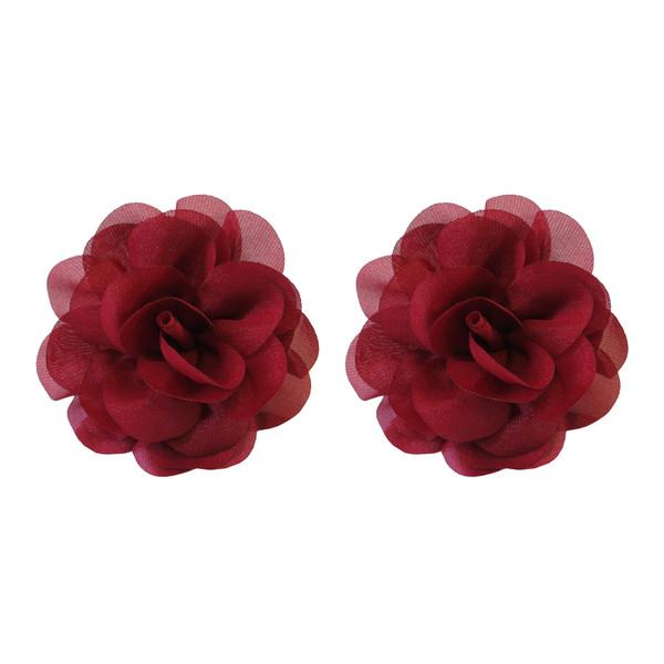 کش مو زنانه طرح گل مدل WKG-101 بسته دو عددی تک سایز