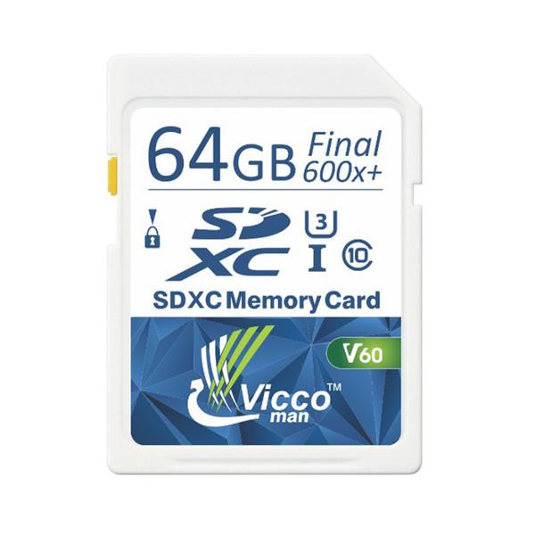کارت حافظه SDXC ویکومن مدل Extra 600X Plus کلاس 10استاندارد UHS-I سرعت 90MB/S ظرفیت 64 گیگابایت
