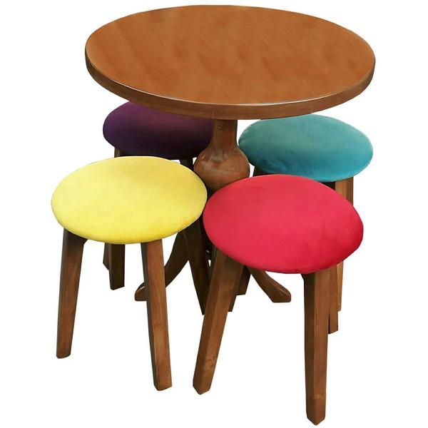 میز و صندلی نهار خوری چهارنفره کد 1080