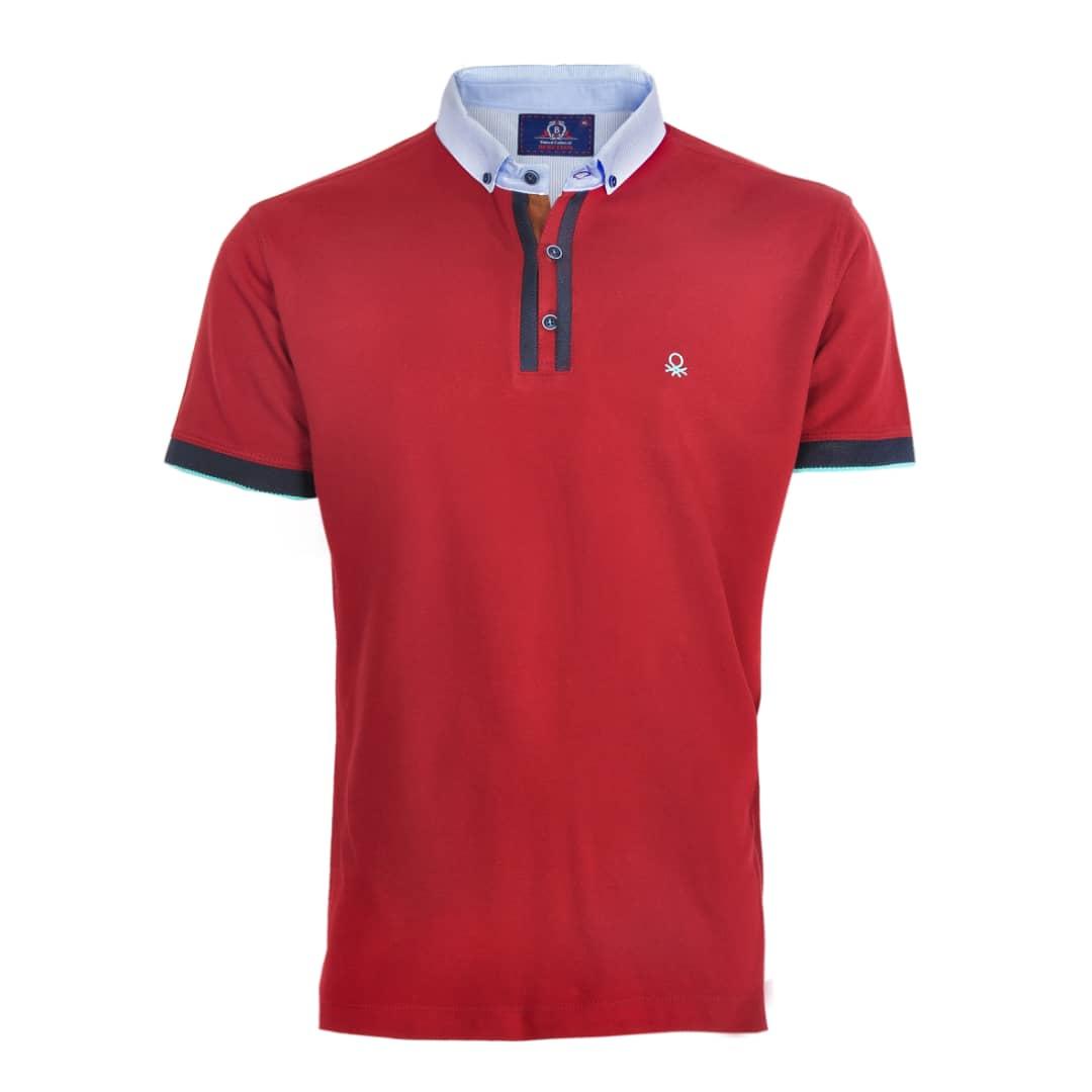 تی شرت مردانه آستین کوتاه کد 704007 رنگ قرمز