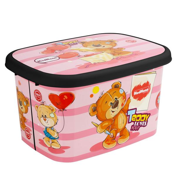 جعبه اسباب بازی کودک مدمان طرح بلک خرس صورتی کد2
