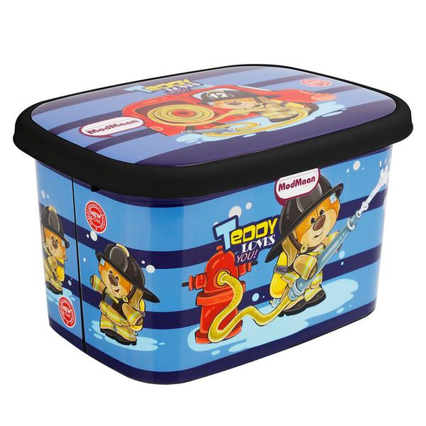 جعبه اسباب بازی کودک مدمان طرح بلک خرس آتش نشان کد2