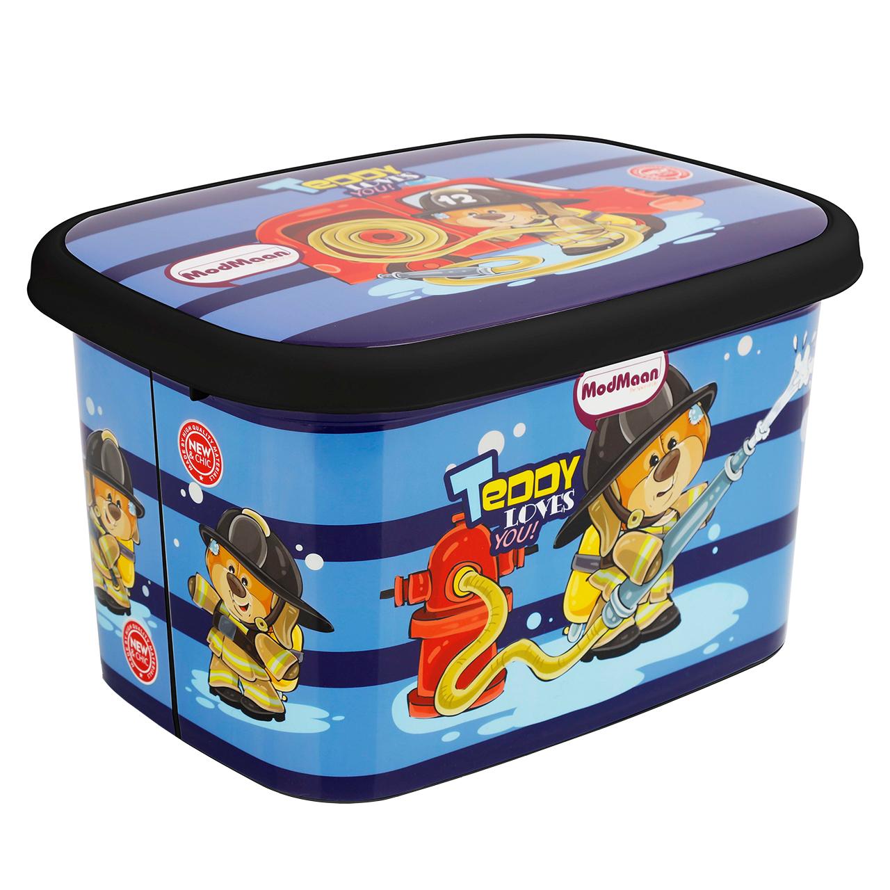 جعبه اسباب بازی کودک مدمان طرح بلک خرس آتش نشان کد3