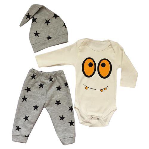 ست 3 تکه لباس نوزادی  مدل ستاره کد 20