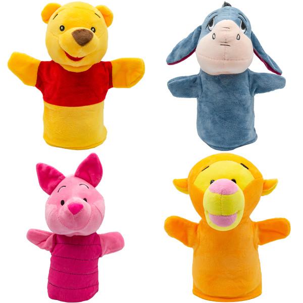 عروسک های نمایشی بی جی دالز طرح انیمیشن پو مجموعه بسته 4 عددی