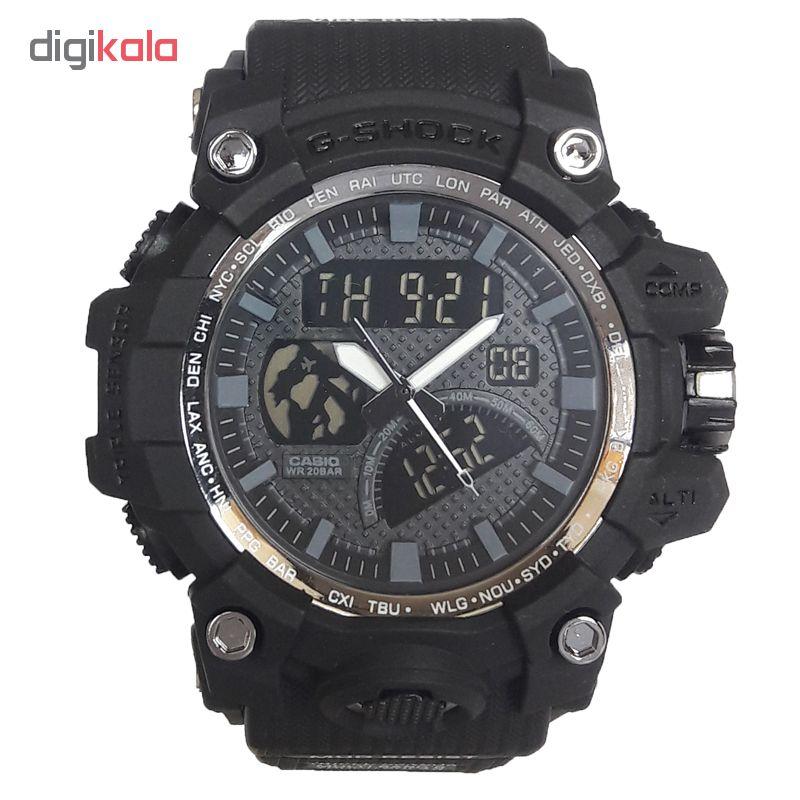 ساعت مچی دیجیتال مردانه مدل G-SH 1177 / ME-TO به همراه دستمال مخصوص نانو برند کلیر واچ