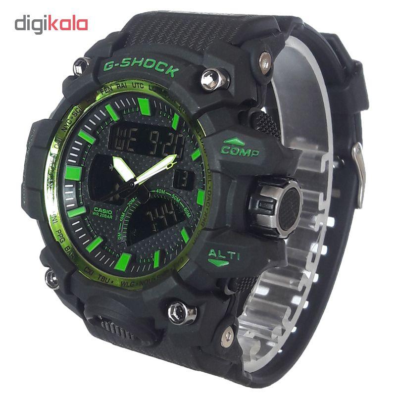 کد تخفیف                                      ساعت مچی دیجیتال مردانه مدل G-SH 1177 / ME-SAB به همراه دستمال مخصوص نانو برند کلیر واچ                     غیر اصل