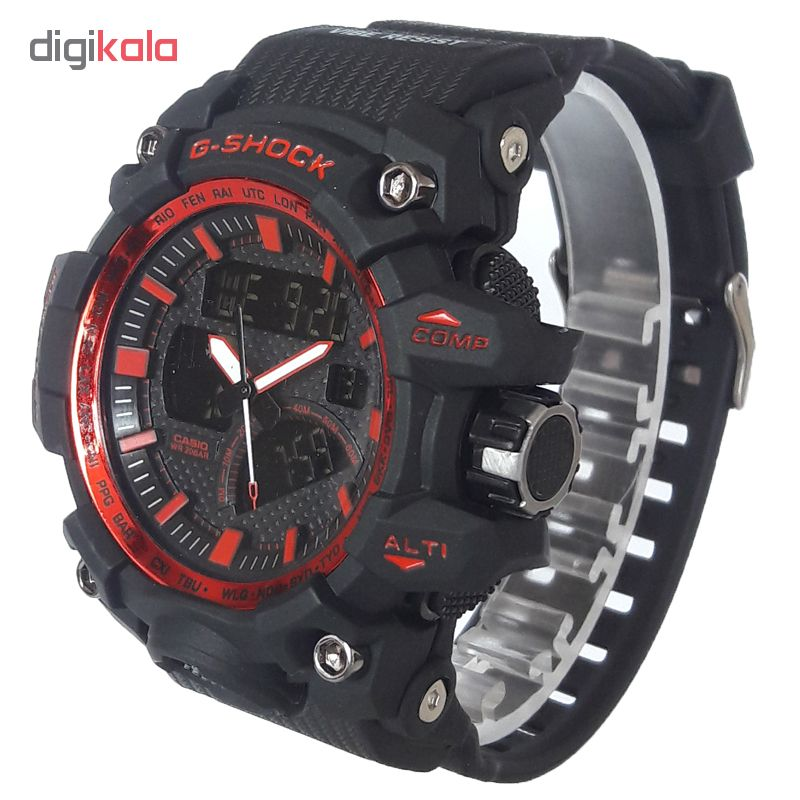ساعت مچی دیجیتال مردانه مدل G-SH 1177 / ME-GHER به همراه دستمال مخصوص نانو برند کلیر واچ