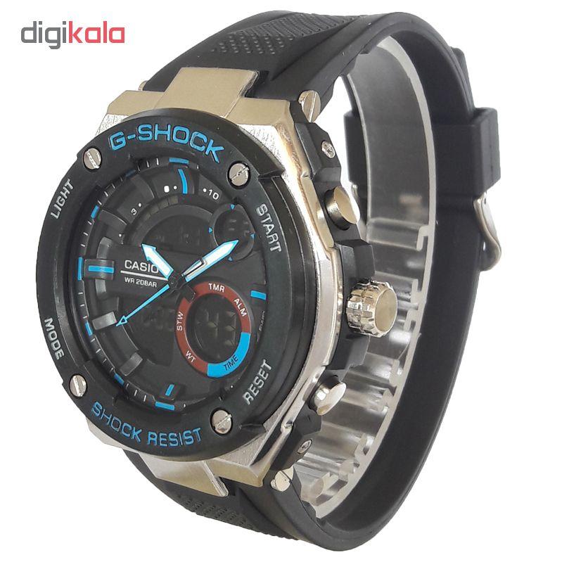 ساعت مچی دیجیتال مردانه مدل G-SH 1144 / ME-AB به همراه دستمال مخصوص نانو برند کلیر واچ