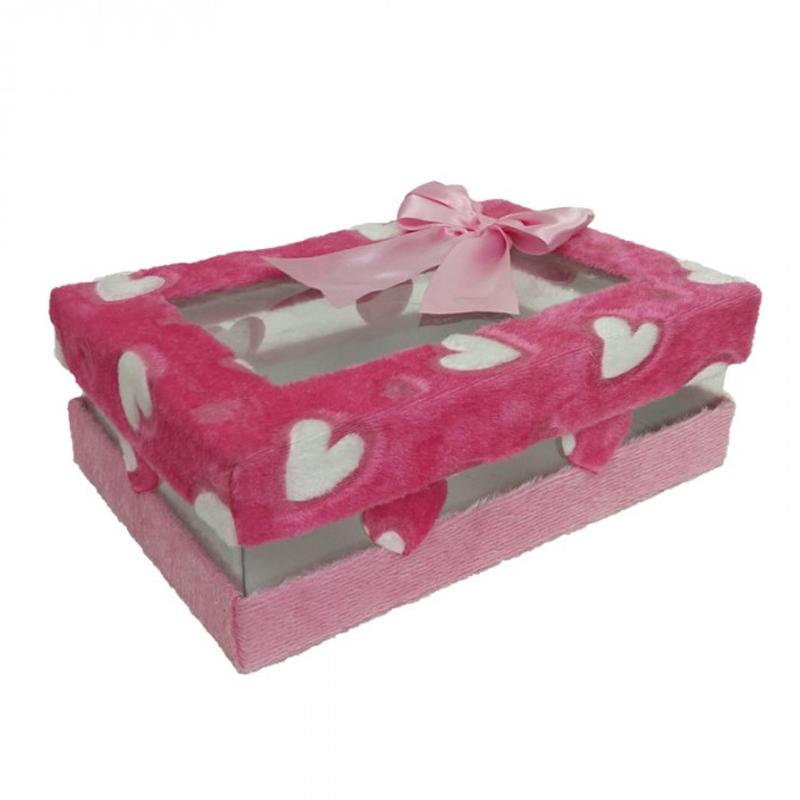 جعبه کادویی طرح قلب افشان کد C 4664
