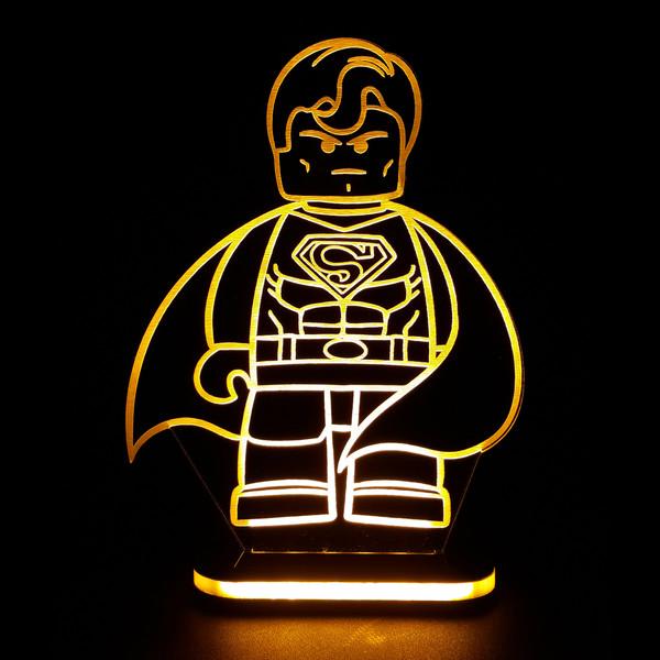 چراغ خواب طرح لگو سوپرمن کد 1224