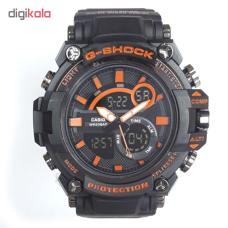 خرید ساعت مچی دیجیتال مردانه مدل G-SH 1144 / ME-NAR به همراه دستمال مخصوص نانو برند کلیر واچ