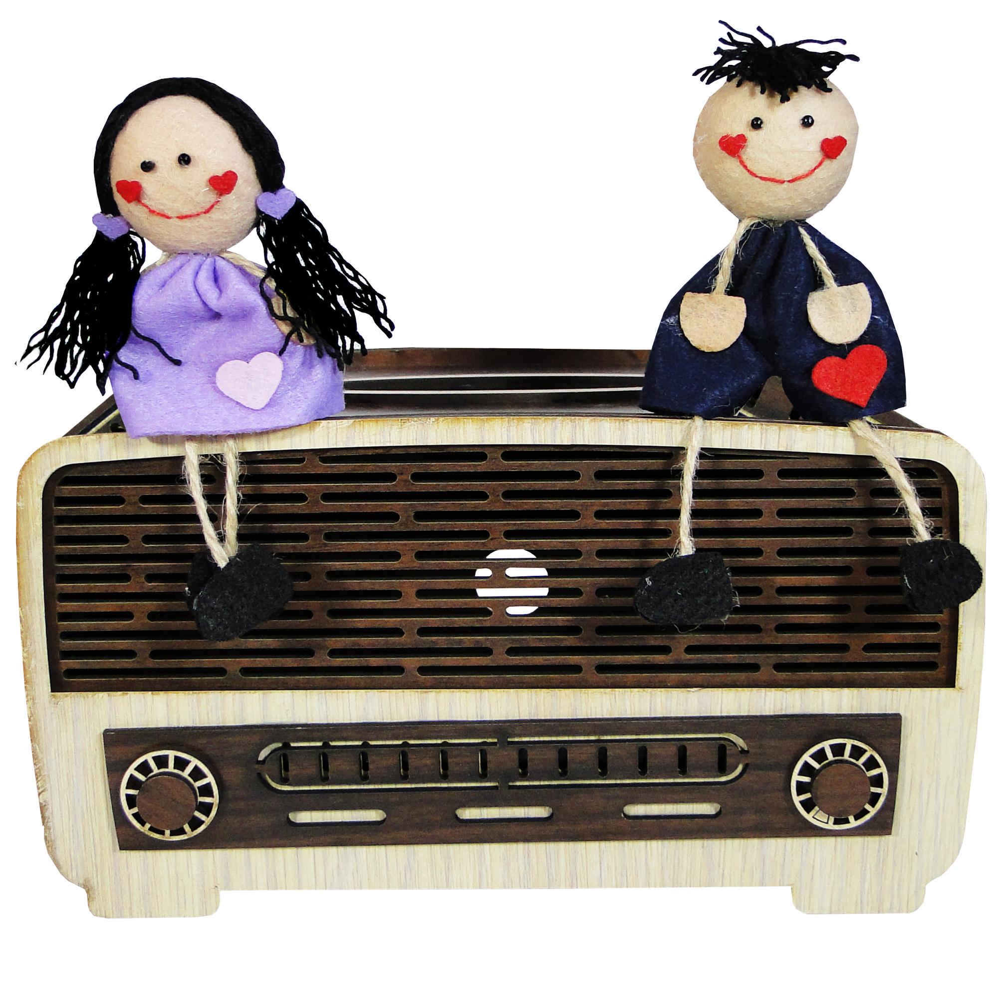 جعبه دستمال کاغذی طرح رادیو کد 2499