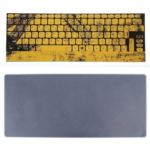 برچسب حروف فارسی کیبورد طرح لاستیک به همراه محافظ کیبورد مدل 15-I مناسب برای لپ تاپ 15.6 اینچ