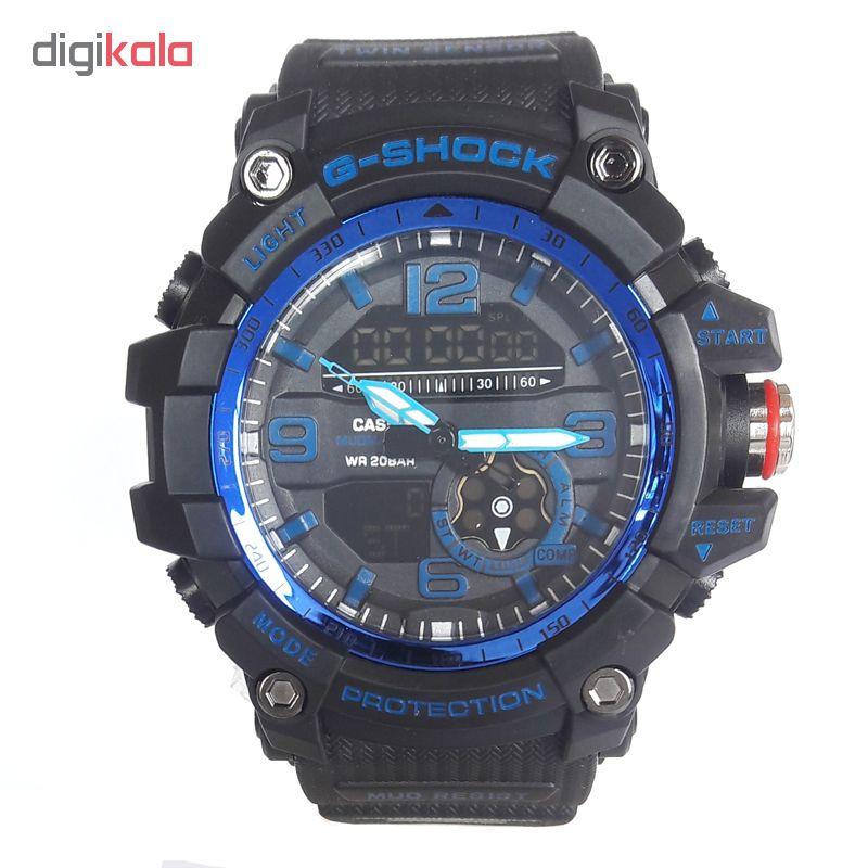 خرید ساعت مچی دیجیتال مردانه مدل G-SH 1199 / ME-AB به همراه دستمال مخصوص نانو برند کلیر واچ
