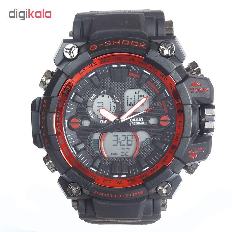 ساعت مچی دیجیتال مردانه مدل G-SH 1100 / ME-GHER به همراه دستمال مخصوص نانو برند کلیر واچ