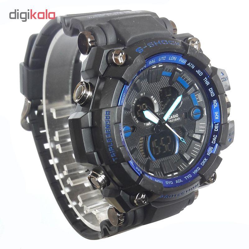 ساعت مچی دیجیتال مردانه مدل G-SH 1100 / ME-AB به همراه دستمال مخصوص نانو برند کلیر واچ                     غیر اصل
