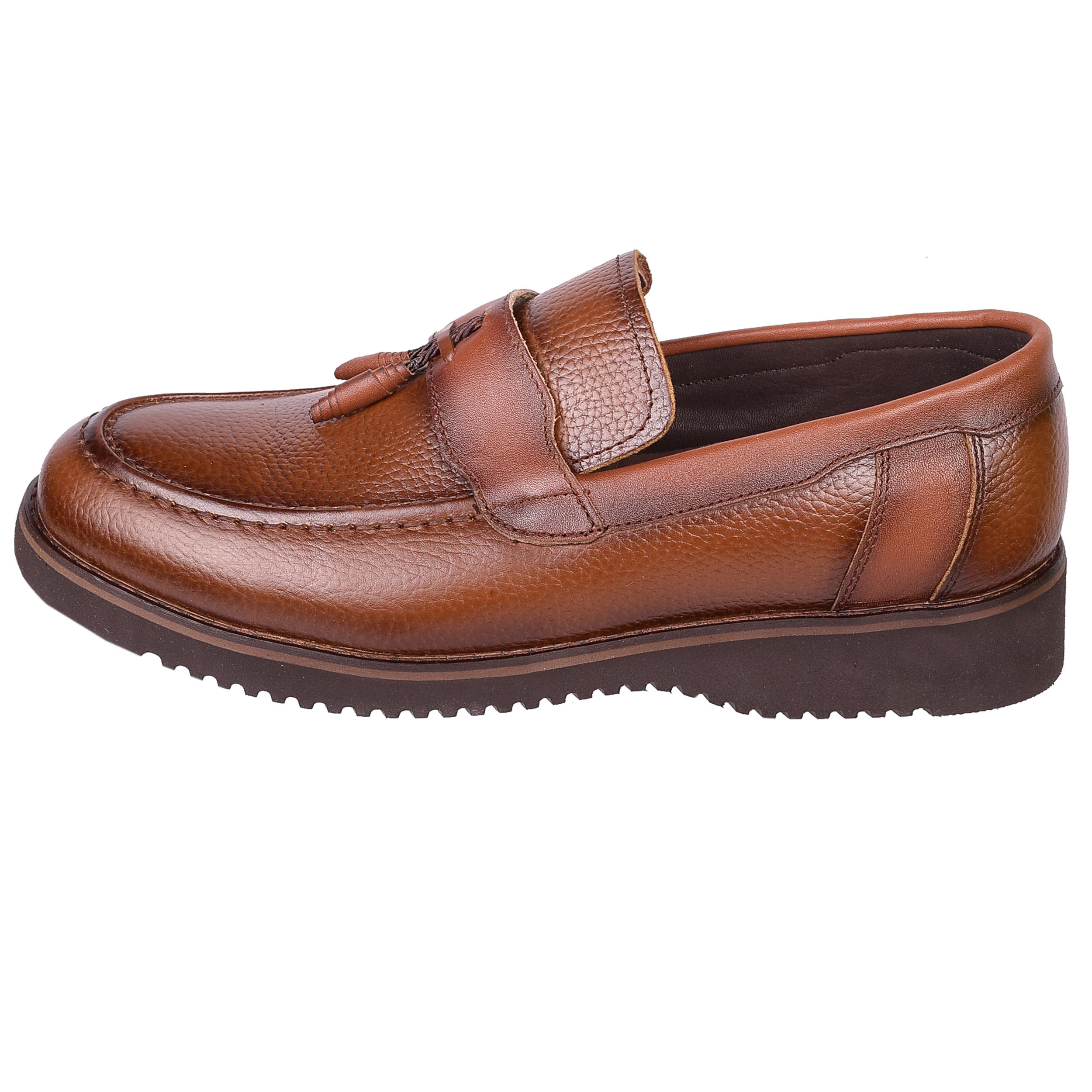 کفش مردانه طاها مدل 1555 رنگ عسلی