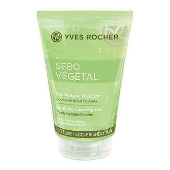 ژل پاک کننده آرایش صورت پوست چرب ایو روشه مدل Sebo vegetal حجم 125 میلی لیتر