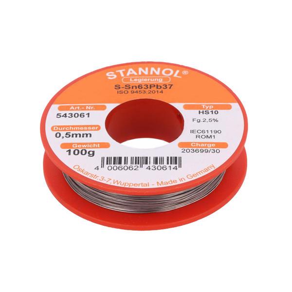 سیم لحیم استانول مدل Sn63Pb37 وزن 100 گرم