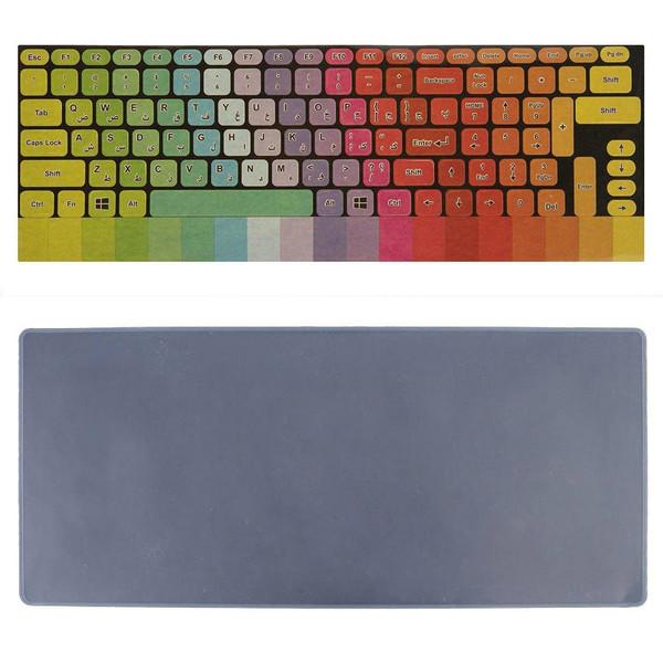 برچسب حروف فارسی کیبورد طرح پالت به همراه محافظ کیبورد مدل 15-I مناسب برای لپ تاپ 15.6 اینچ