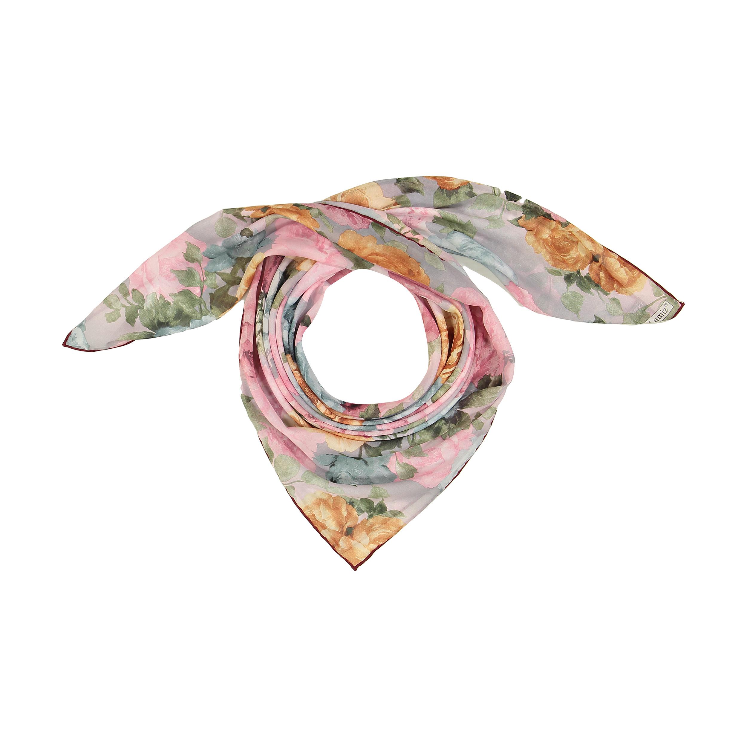 روسری زنانه لمیز طرح گلستان کد 352