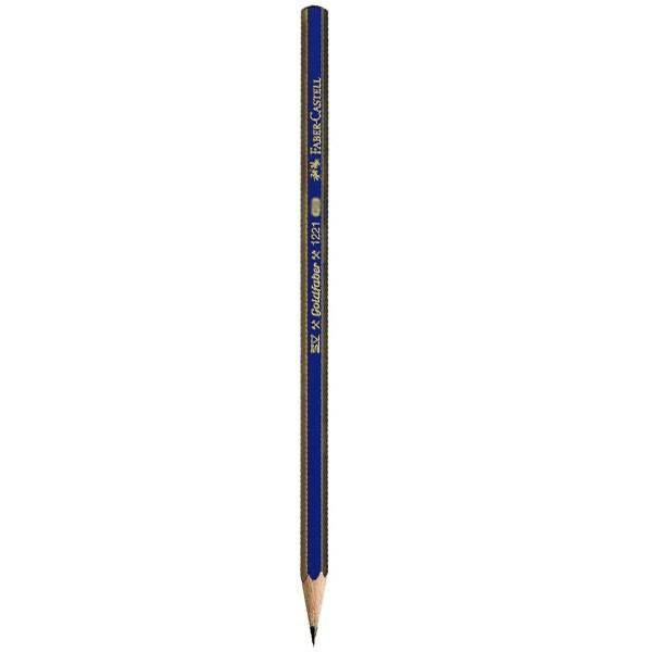 مداد طراحی فابر کاستل مدل گلد فابر 6B بسته 12 عددی