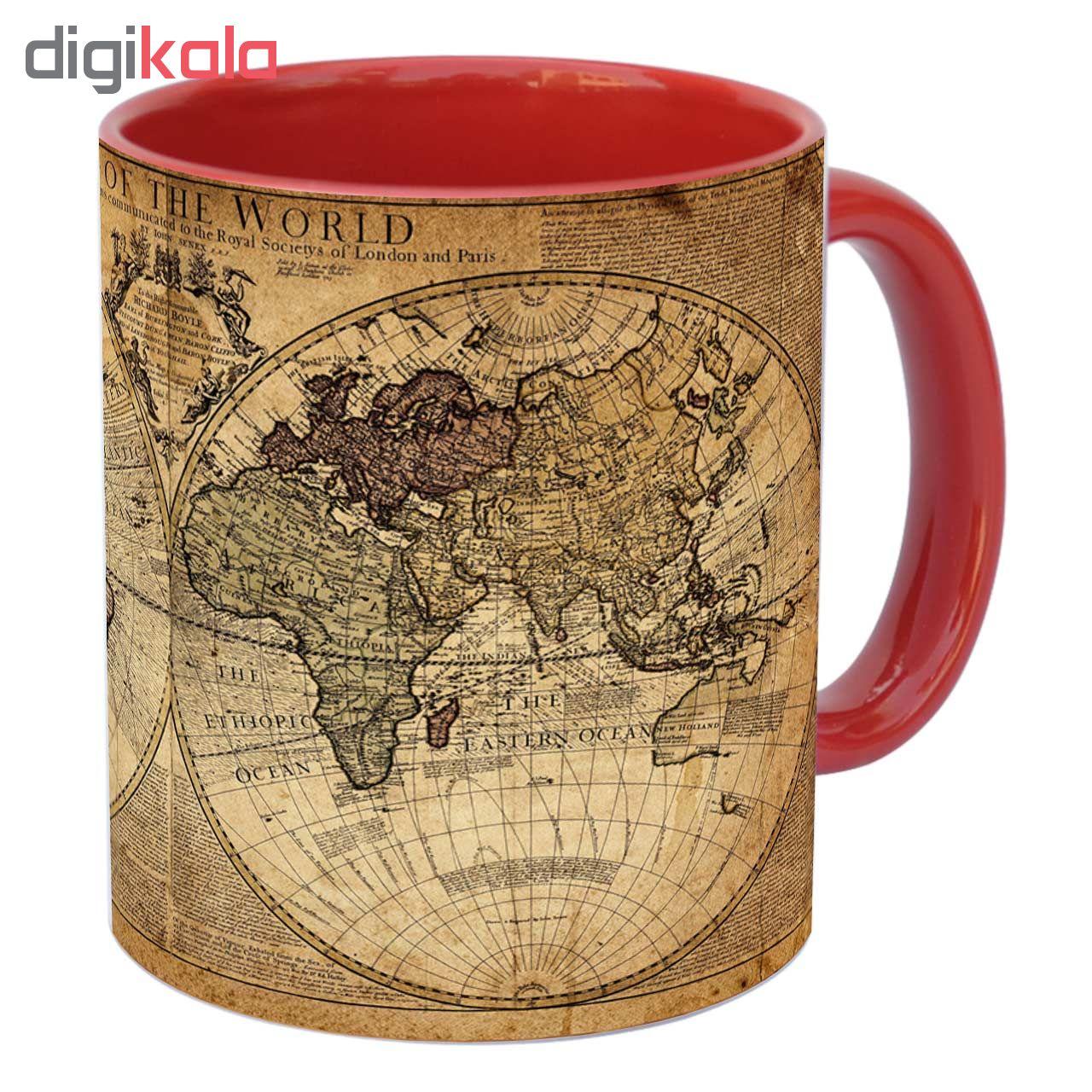 ماگ زیزیپ طرح کره زمین کد 1417