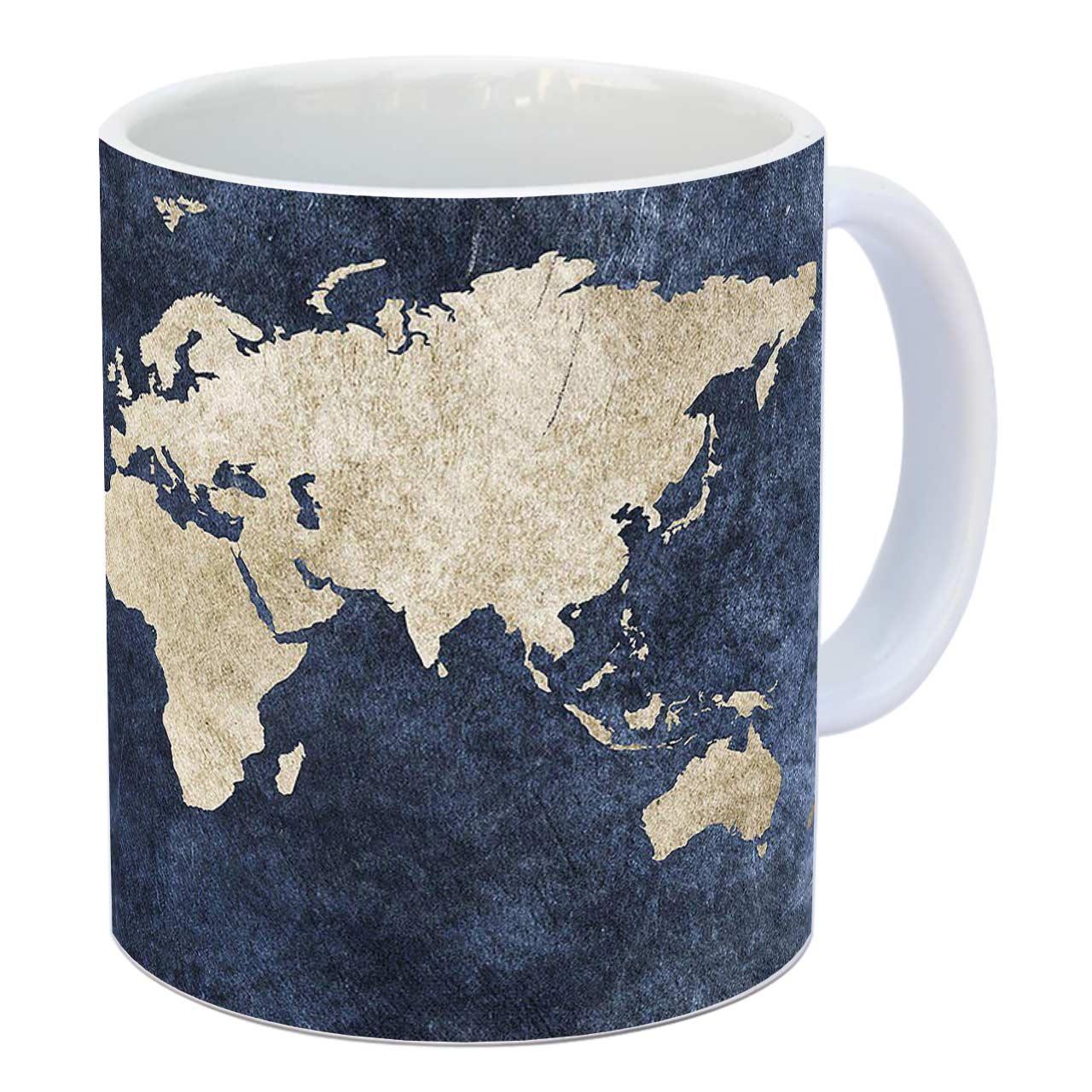 خرید ماگ زیزیپ طرح کره زمین کد 1418