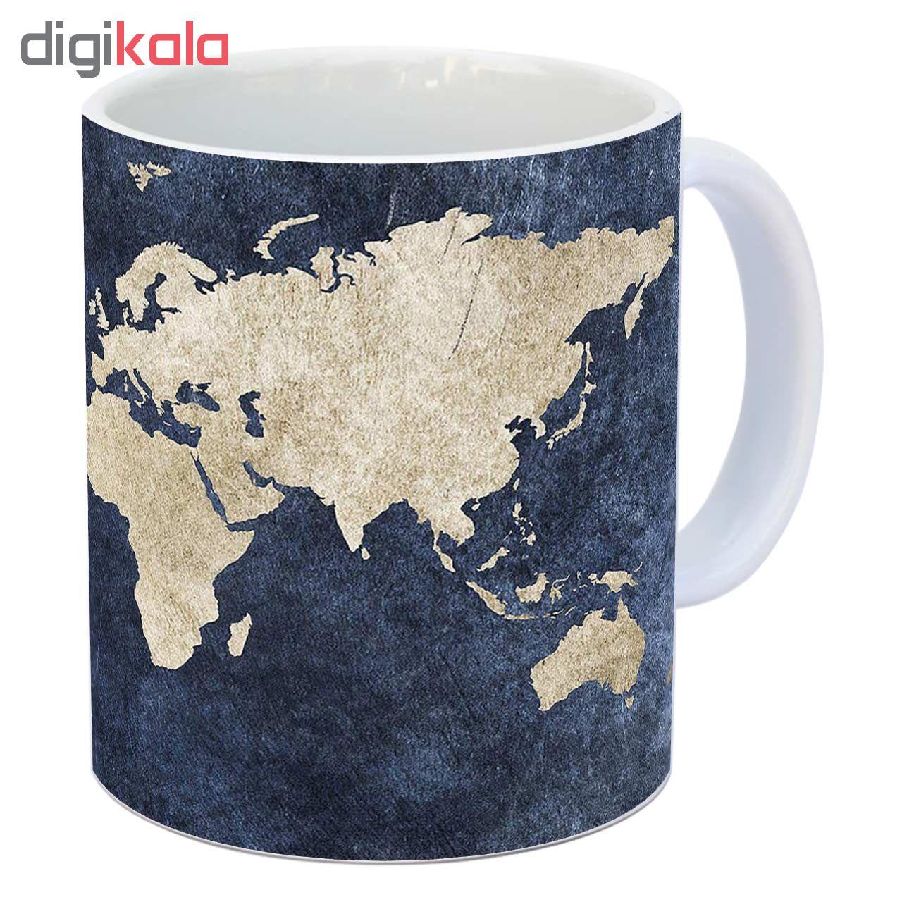 ماگ زیزیپ طرح کره زمین کد 1418