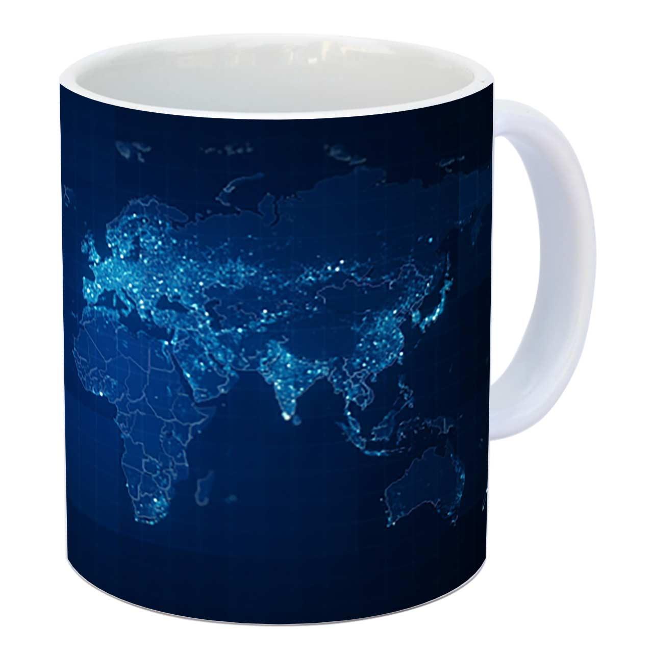 عکس ماگ زیزیپ طرح کره زمین کد 1419