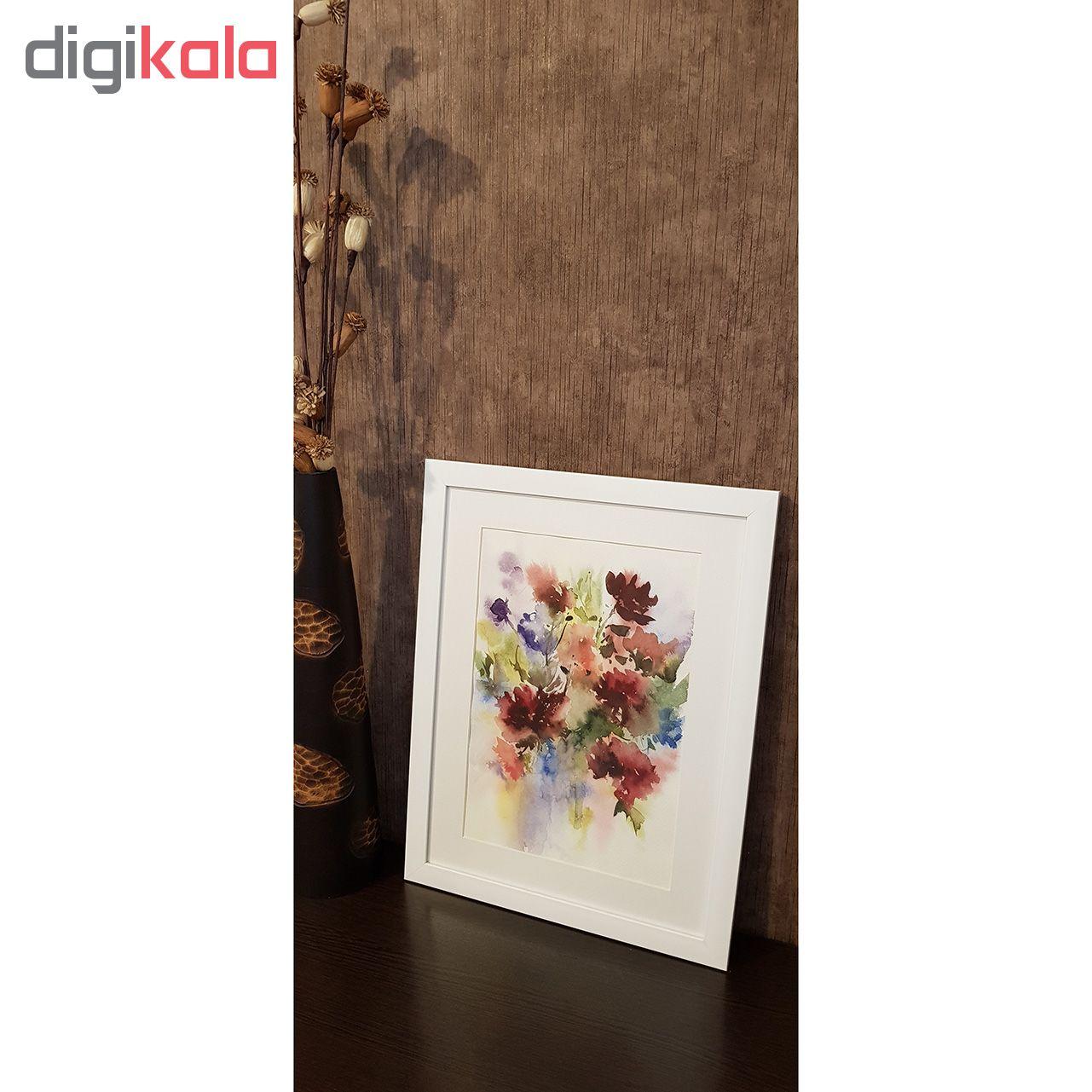 خرید                      تابلو نقاشی آبرنگ طرح باغ گل کدM112