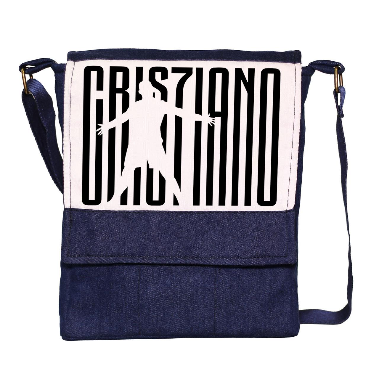 قیمت کیف دوشی مردانه گالری چی چاپ طرح کریستیانو رونالدو کد 65941