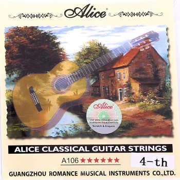 سیم  چهارم گیتار کلاسیک آلیس مدل 4th کد106