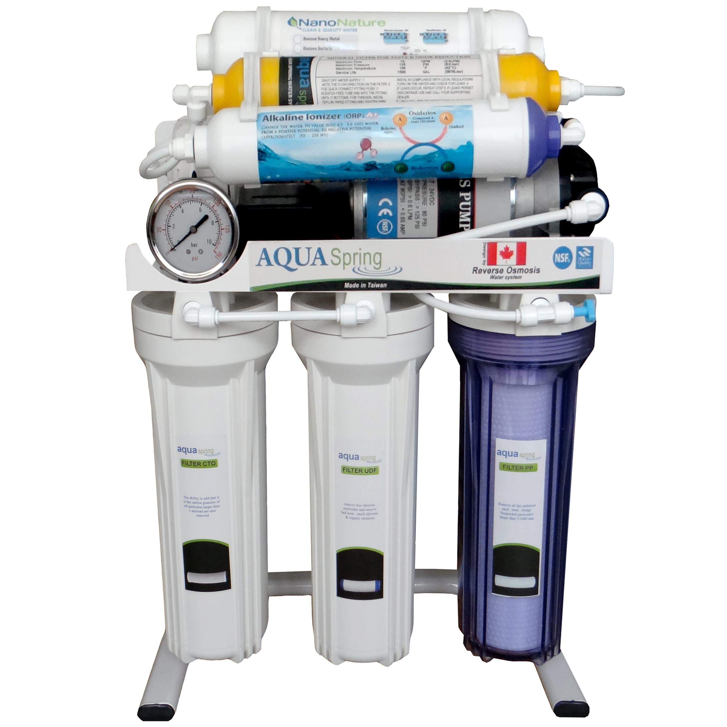 دستگاه تصفیه کننده آب  آکوآ اسپرینگ مدل RO-S8-NATURE1400