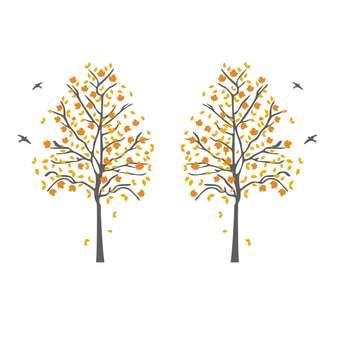 استیکر دیواری والتت طرح دو درخت