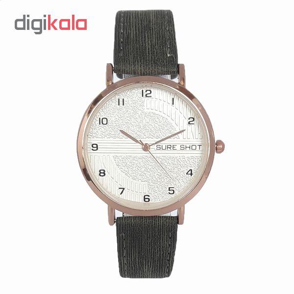 ساعت مچی عقربه ای زنانه سوری شات مدل SUR 9988 / SAB  به همراه دستمال مخصوص نانو کلیر واچ