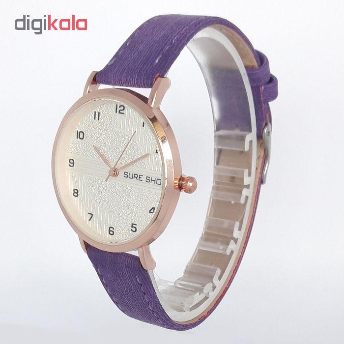 ساعت مچی عقربه ای زنانه سوری شات مدل SUR 9988 / BAN به همراه دستمال مخصوص نانو کلیر واچ