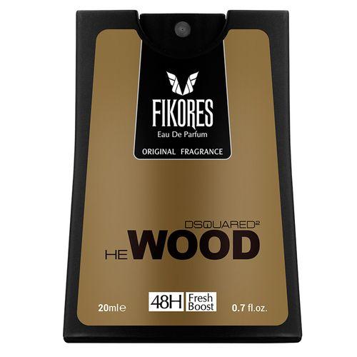 عطر جیبی مردانه فیکورس مدل Dsquared He Wood حجم 20 میلی لیتر