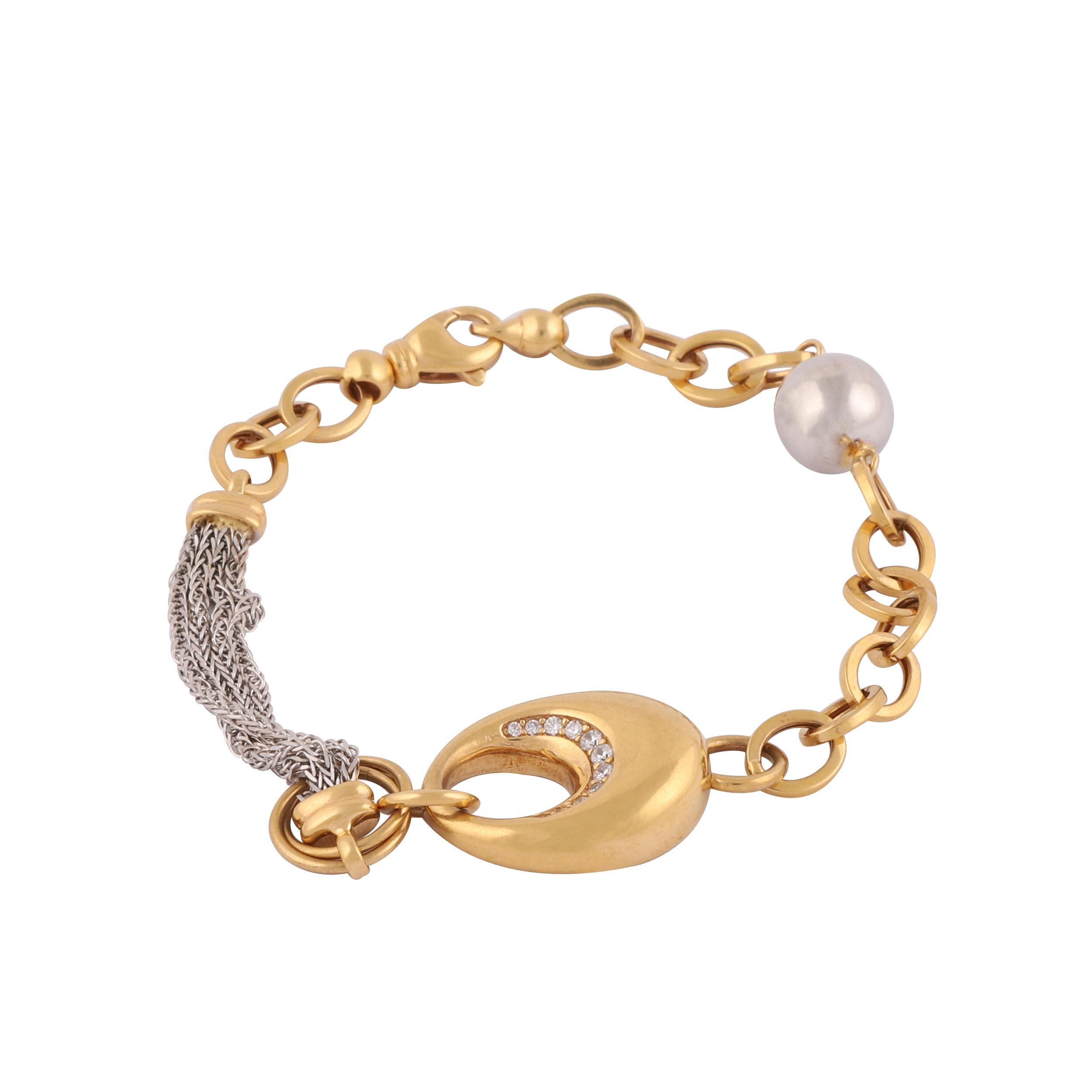 قیمت دستبند طلا 18 عیار گوی گالری مدل G342